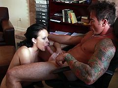 Nasty milf is more than eager to put her lips over this dick prior to an unforegttable office fuck