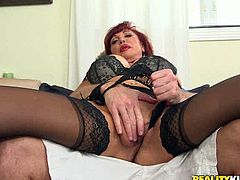 Slutty mature bitch gets seduced by the guy and takes off her clothes. She gets her tits and asshole licked. Have a look at this slut in Reality Kings xxx clip.