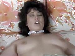 Amazing dark haired and light haired bitches with awesome bodies lick each other's cunts in 69 pose. Have a look at these sluts in The Classic Porn sex clip.