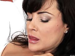 David Perry cant wait any more to insert his man meat in horny as hell Lisa Anns mouth