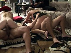 Check out this massive orgy scene where these horny babes and guys make you pop a boner as they fuck the living hell out of one another on camera.