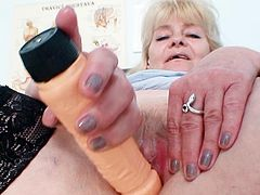 Josefina is one nasty nurse who loves checking her juicy vag each time she gets horny at work