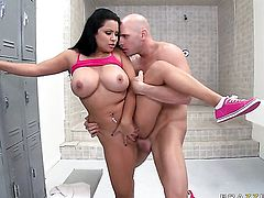 Sophia Lomeli with juicy boobs cant live a day without getting fucked by horny dude Johnny Sins