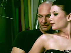 Light haired busty whore and her dark haired salacious kooky posed on knees to provide that kinky man with solid deep throat. Just enjoy that steamy FFM fuck in Pinko HD sex video!