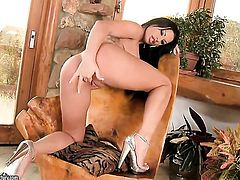 Brunette Kerry Louise cant stop playing with herself