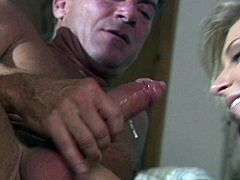 Check out this hardcore scene where the sexy blonde Brooke Banner ends up with her tits covered by semen after being fucked silly by this guy.