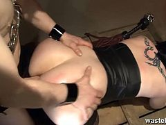 Watch this emo babe beg for her to force chain her like a slave and butt plugged nasty sex toy into her tight ass. Watch her fucked rough in the end of the video.