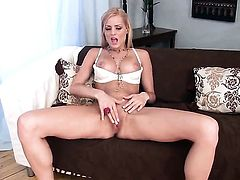 Chloe Conrad enjoys another solo sex session