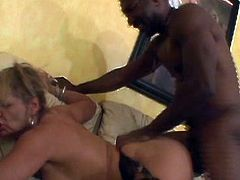 Horny and amazing blond haired babe with nice ass gets her dripping pussy fucked hard and sucks the dick. Have a look at thus bitch in All Porn Sites Pass sex clip.