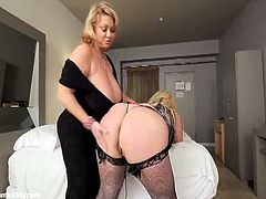 Samantha38g and Skye Sinn go fully lesbo together in this awesome free porn video set by Eroxia. Watch the busty blonde BBW dildoing their cunts into heaven.