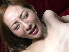 Saucy brunette doll with small tits and bearded clam is fucking passionately in Jav HD fuck video. Erena gives head before jumping on a hard stick in reverse cowgirl position. Then, she gets nailed missionary style.