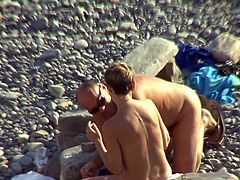 It's a true pleasure for horny voyeur to spy on this horny couple while enjoying day at the beach