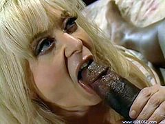 The feisty mature slut gets her pussy licked and gives amazing blowjob right before that black devil sticks his tool deep inside of her.