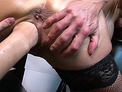 Nothing get these horny sluts more horny than harsh fisting one another's cherry in rough and insolent masturbation scenes