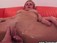 Damn, just loo at this busty and booty blond chick Marxy. She is a Russian honey that loves being poked in her ass and twat!