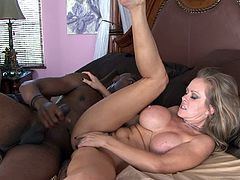 Dyanna Lauren fucks with black shaft