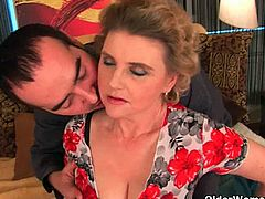 Older Woman Fun brings you a hell of a free porn video where you can see how an alluring mature in stockings gets her hairy cunt banged hard and deep into heaven.