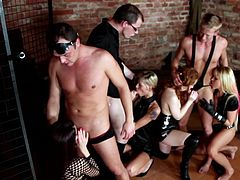 Their need to obey makes horny chicks to do unimaginable things in alluring group hardcore event