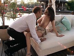 Sensual Jane makes Rocco Siffredis love torpedo harder before getting her twat pumped