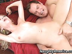 Evan Stone sticks his dick in mouth-watering Nicole Rays love tunnel