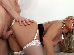 This sluty angel is truly amazing as she loves fucking like crazy and having each of her holes demolished