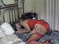 Curvy blond haired whore shows her skills in blowjob and gets poked hard missionary. Have a look at this bitch in The Classic Porn sex video.