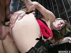 Tanya Tate with gigantic tits is a slut who knows what to do with Johnny Sins s erection
