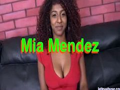 Make sure you don't miss hot latino bitch named Mia Mendez involved into some hardcore banging with a big white cock. Watch as she takes it deep into her twat.