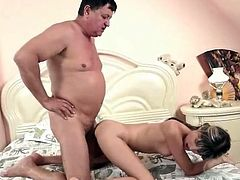 Granpda makes love his Sleaze youthful puss
