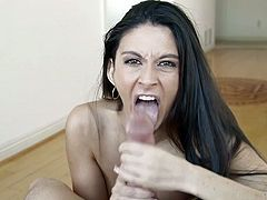 Attractive curvy dark haired chick with nice body gives a great deepthroat. Have a look at this slut in My XXX Pass sex video.