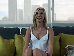 Chloe Brooke showed up willing to do anything to become a pornstar. She was game for fucking and doing whatever it takes to achieve her goal. She got a facial so far.