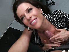 Veronica Avluv is horny as fuck after sucking Danny Mountains worm
