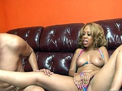 That crazy dude can make his cock staff only after licking smelly toes of slutty chicks. This light haired black hoe waits passionately when he gets horny..Have a look at that freaky sex in Fame Digital porn video!