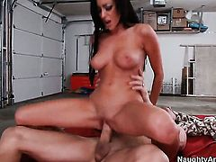 Billy Glide makes his sturdy schlong disappear in perfect bodied Breanne Bensons vagina