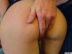 Check out this hardcore scene where the beautiful blonde Stevie Shae is fucked by this guy as you hear this babe moan.