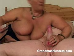 If you are into horny and chubby grannies make sure you don't miss this one. Watch as she strokes this old cock to make it perfect for her old fat wet cunt.