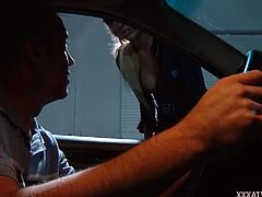 Victoria White gives Will Powers a ticket for speeding and brings him in to the station for a private talk. That talk turns into an unforgettable fuck for them.