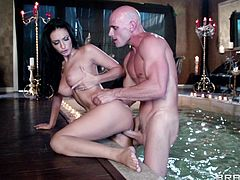 Amber Cox is nailed by a guy with a thick cock