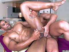 Witness this reality video where a muscle fellow, with a nice ass and a big cock, gets fucked hard by a sweet dude and moans loudly.
