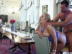 Get a load of this amazing hardcore scene and watch the beautiful blonde milf Paige Turnah being fucked by a big cock as you hear her moan.