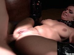 Sorority sister Ashley Graham is fucked by a big cock