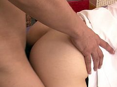 Chesty Japanese nurse Miho Tsujii takes part in MMF threesome