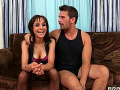 Cytherea is a beautiful brunette with an incredible body and a gorgeous face. Watch this babe being fucked by this guy until her pretty face's covered by semen.
