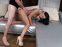 Exquisite Brunette Has Anal Sex With A Naughty Dude