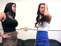 Asian chick Asa Akira and Diamond Kitty are good friends and they are also passionate lovers. The girls demonstrate us their sexual skills and have perfect lesbians adventure