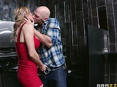 Rough sex leaves Tanya Tate with a messy facial
