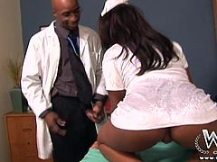 the black nurse fucks the doctor