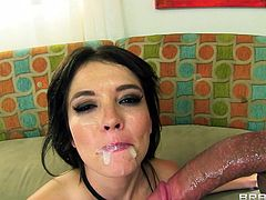 Have fun with this hardcore scene where the sexy Tiffany Fox ends up with her mouth filled by warm semen after being fucked by a large cock.