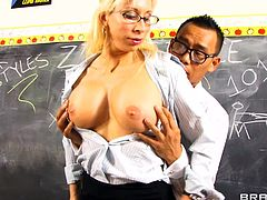 Press play on this hardcore scene and watch the busty teacher Morgan Ray having sex with one of her lucky students after class.