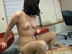Take a look at this hardcore scene where this Japanese babe is fucked silly by this guy as you hear her moan with each penetration.